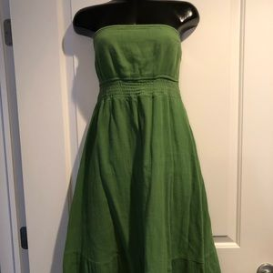 Mossimo Green strapless mid length dress large